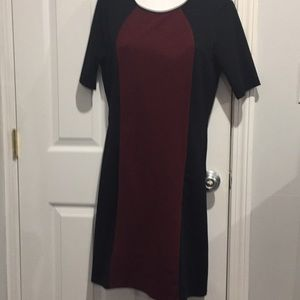 Black and burgundy dress